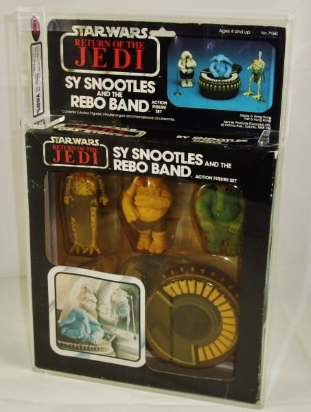 STAR WARS VINTAGE SY SNOOTLES AND THE REBO BAND BUBBLE PACK GRADING