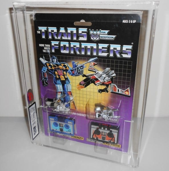 TRANSFORMERS G1 CASSETTES MOSC GRADING
