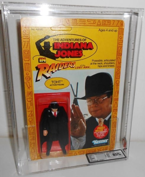 INDIANA JONES CARDED FIGURE GRADING