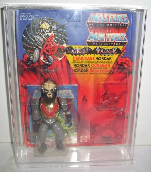 Masters of the Universe Vintage Deluxe carded figure display case