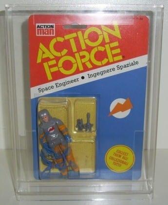 Action Force Vintage carded figure display case