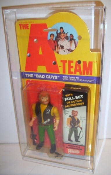 A-TEAM large carded figure display case