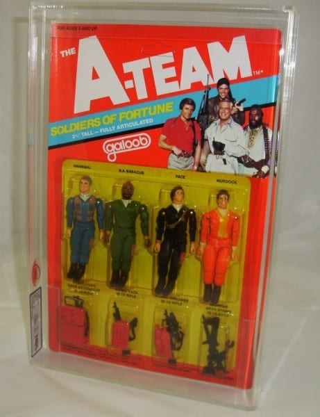 A-TEAM VINTAGE 3/34 INCH CARDED FIGURES GRADING
