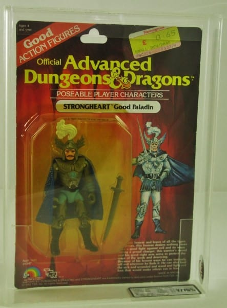 ADVANCED DUNGEONS AND DRAGONS CARDED FIGURE GRADING
