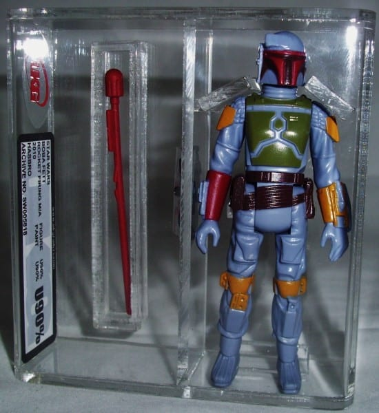 STAR WARS ROCKET FIRING BOBA FETT LOOSE GRADING