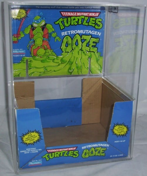 TMNT OOZE STORE DISPLAY BOX GRADING