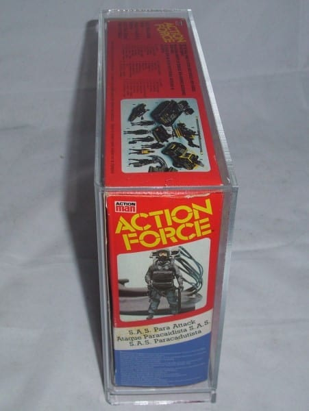 Action Force small box slide bottom display case