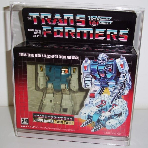 TRANSFORMERS TWIN TWIST OR TOP SPIN DISPLAY CASE