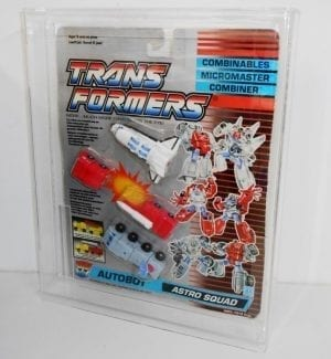Transformers G1 Astro Squad Grading Style Display Case