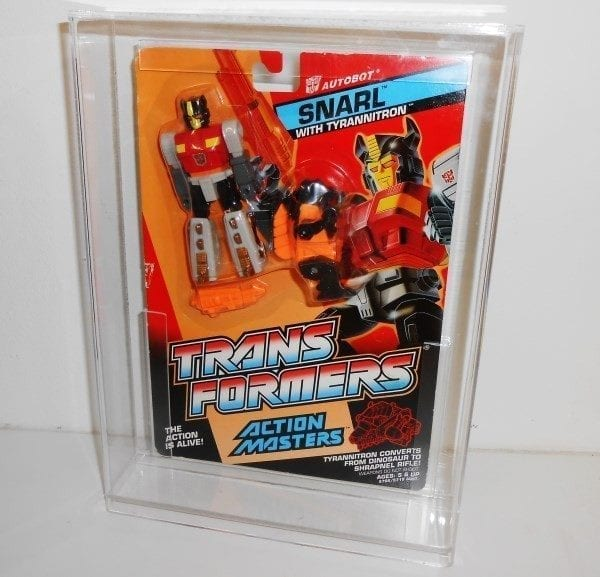 Transformers G1 Action Masters Carded Grading Style Display Case