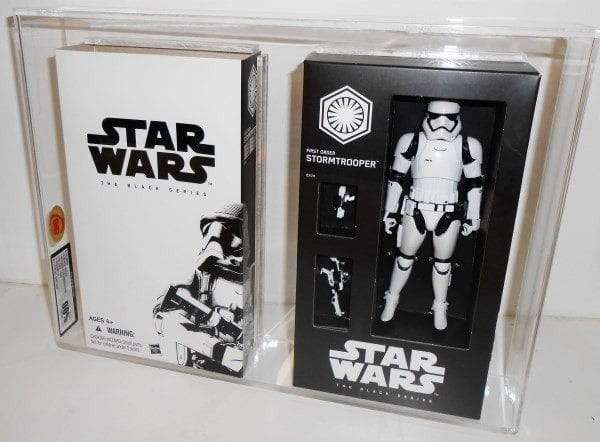 STAR WARS FIRST ORDER STORMTROOPER WITH CARD SLEEVE