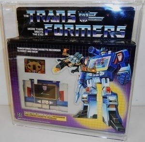 TRANSFORMERS G1 SOUNDWAVE DISPLAY CASE