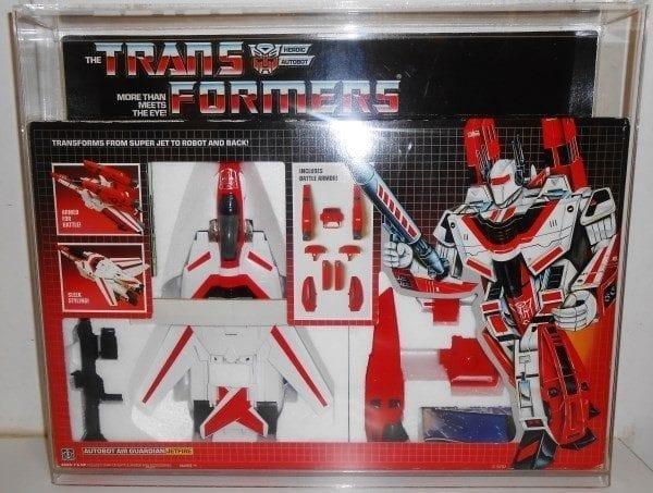 Transformers Jetfire slide bottom display case