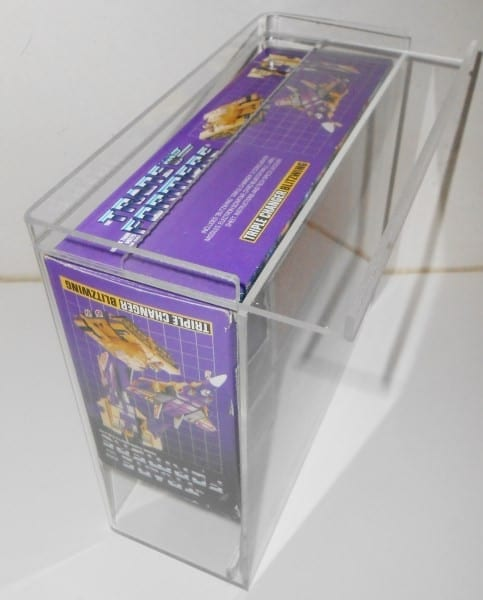 TRANSFORMERS TRIPLE CHANGERS SLIDE BOTTOM DISPLAY CASE