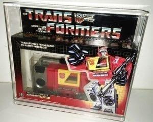TRANSFORMERS G1 BLASTER DISPLAY CASE
