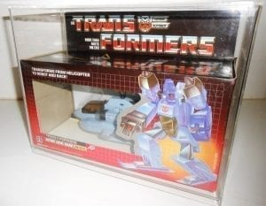 Transformers G1 Whirl Slide Bottom Display Case