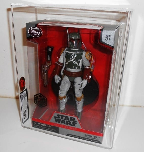 STAR WARS DIECAST DISNEY ELITE SERIES BOBA FETT SIZED CASING AND GRADING