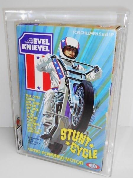 EVEL KNIEVEL STUNT CYCLE MISB GRADING