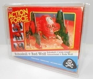 ACTION FORCE ROBOSKULL DISPLAY CASE