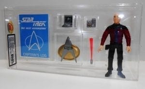 Star Trek Playmates Loose Custom Casing with Star Log/Card Grading.