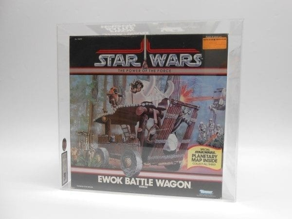 STAR WARS POTF EWOK BATTLE WAGON MISB GRADING